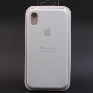 Apple Brand OEM iPhone XR Silicone Case White NEW